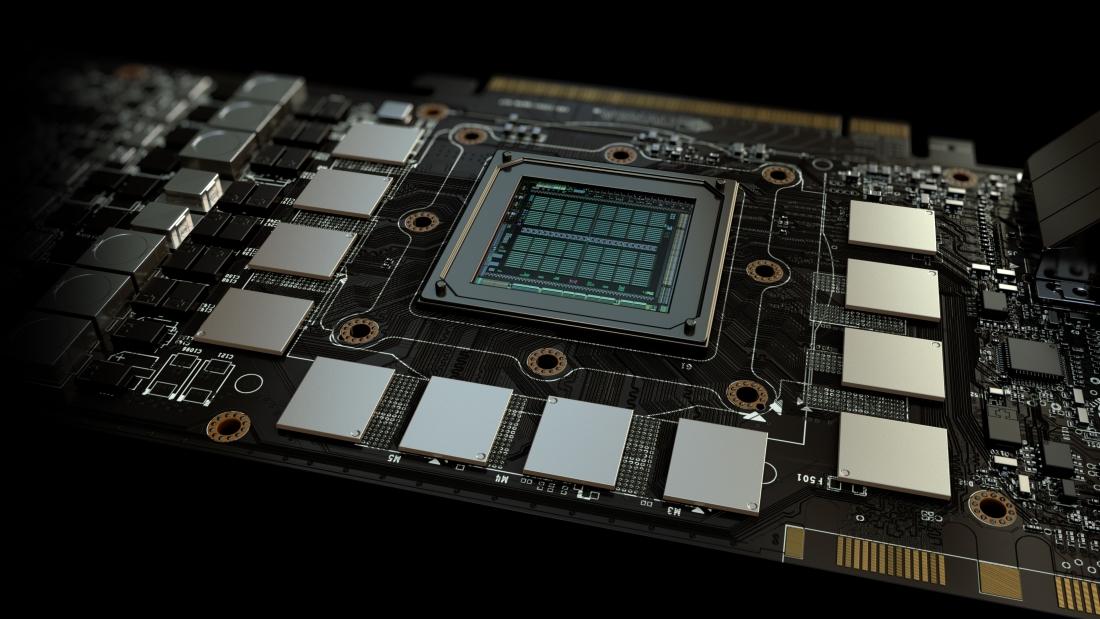 GPU board close shot